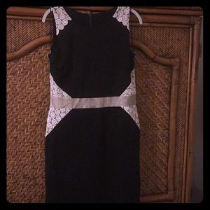 Lovely black and white lace dress